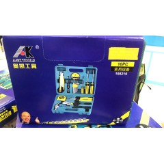 奥凯16件套电讯工具组 五金工具套装工具箱 电讯组套组合套装