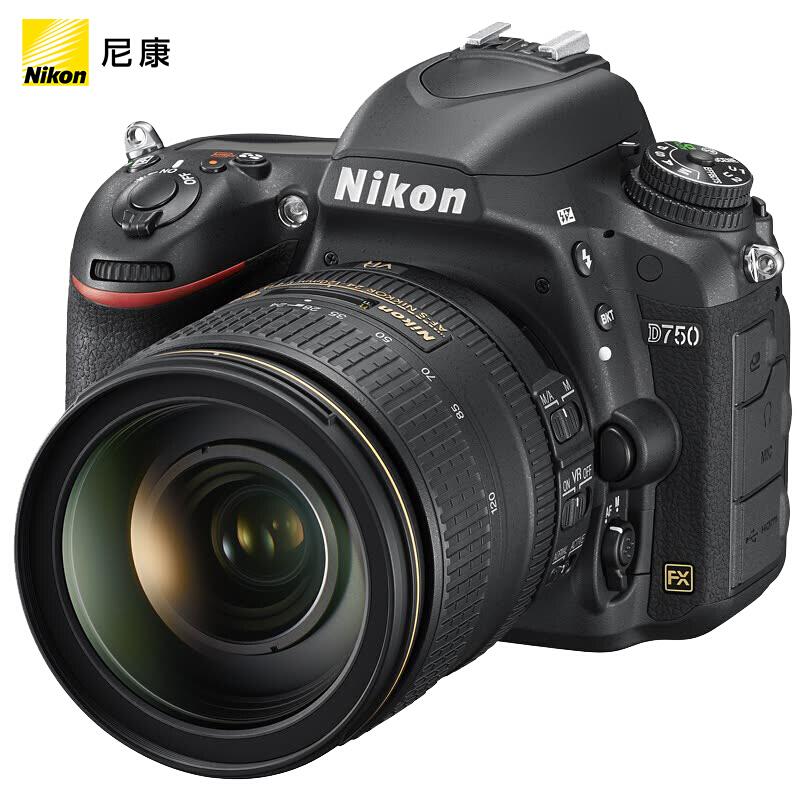 尼康(Nikon)D750 单反相机 数码相机 全画幅 ( AF-S 尼克尔 24-120mm f/4G ED VR 单反镜头)